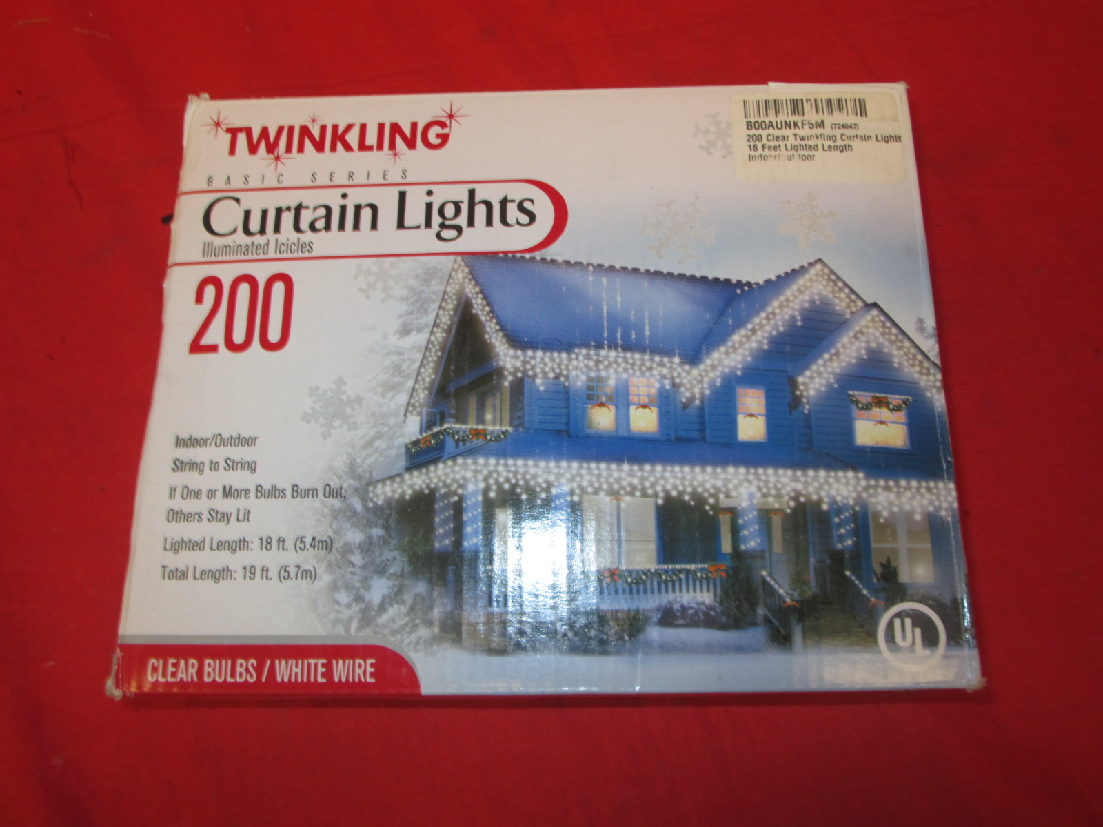 200 Icicle Light Indoor/outdoor Clear Bulbs With White Wire By Basic