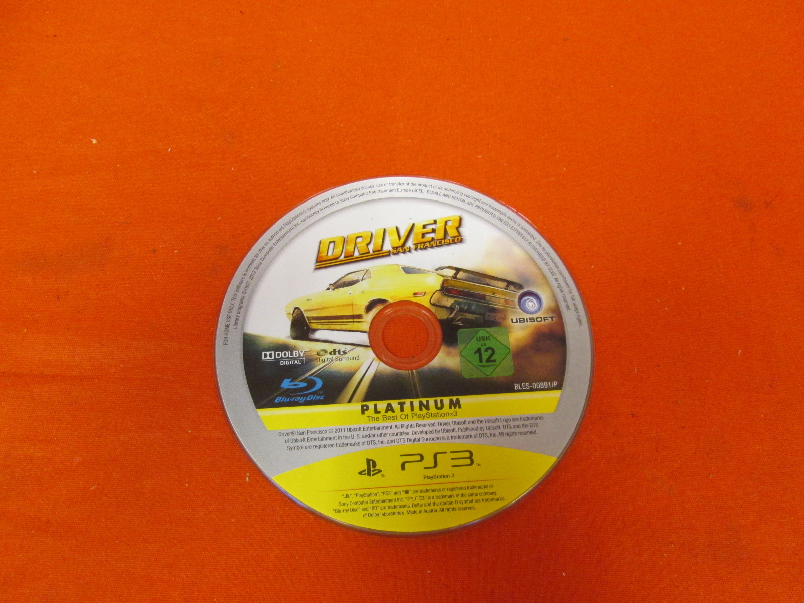 Driver San Francisco PAL Edition Disc Only
