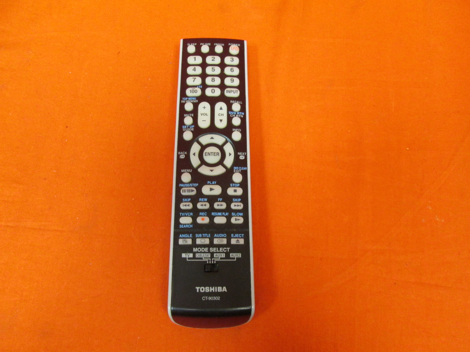 Aurabeam CT-90302 Replacement TV Remote Control For Toshiba Television