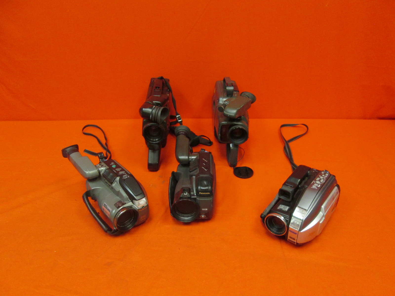 Broken Lot Of 5 Cannon Camcorders