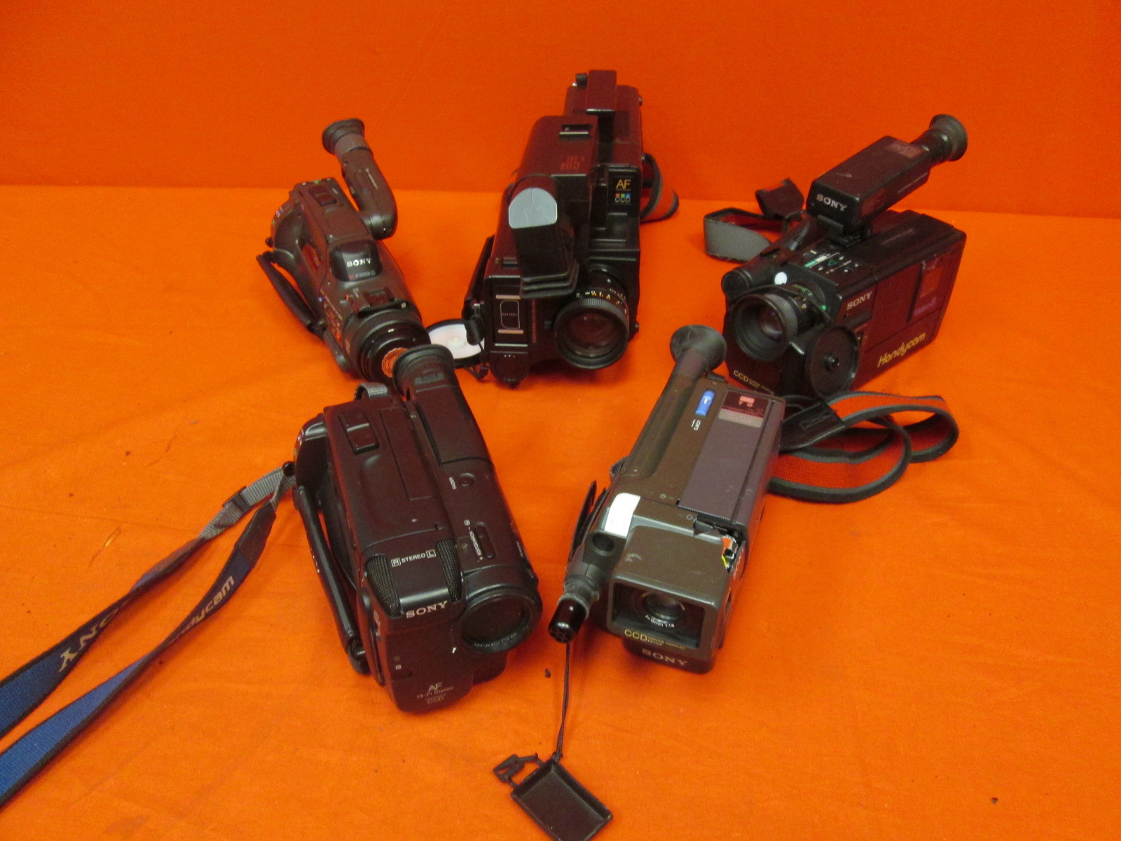 Broken Lot Of 5 Sony Camcorders