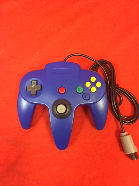Blue Controller For Nintendo 64 N64 System