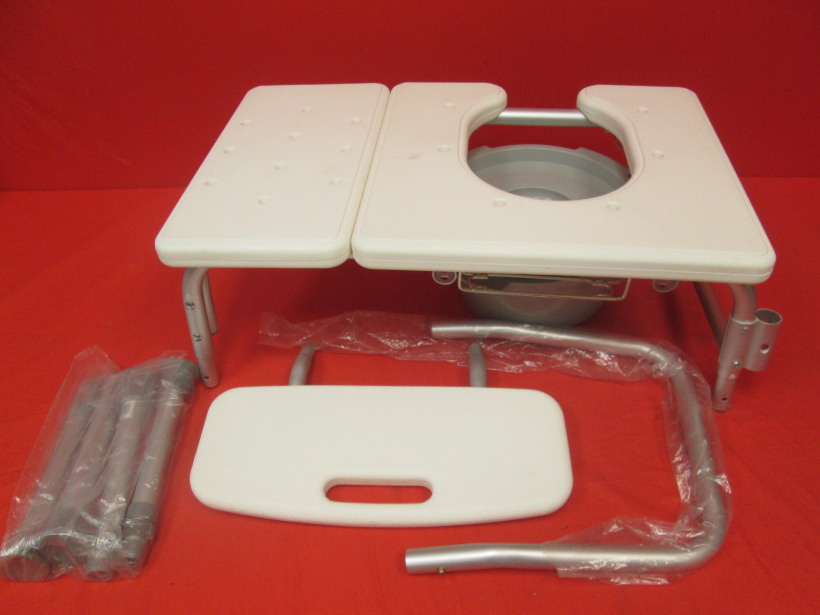 Deluxe Folding Medical Commode With Commode Bucket