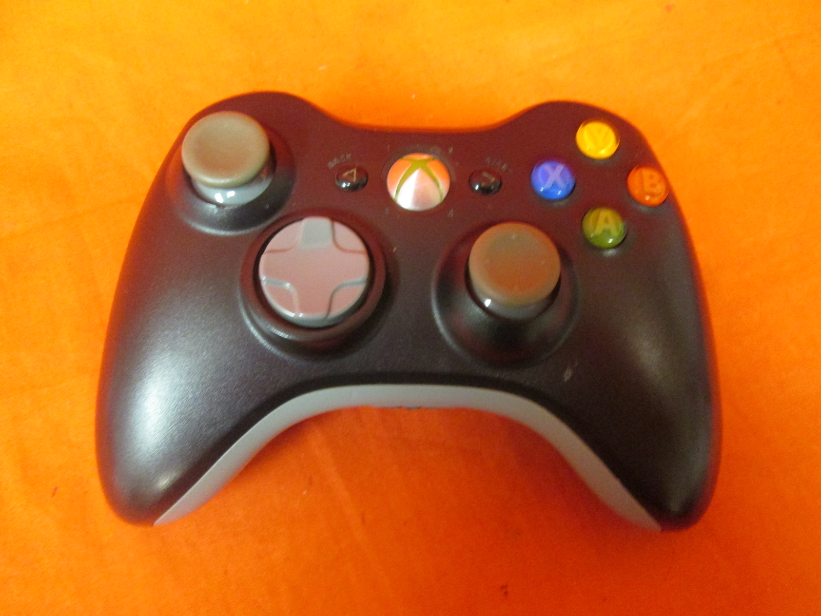 Authentic Official Wireless Controller Matte Black Microsoft Xbox 360