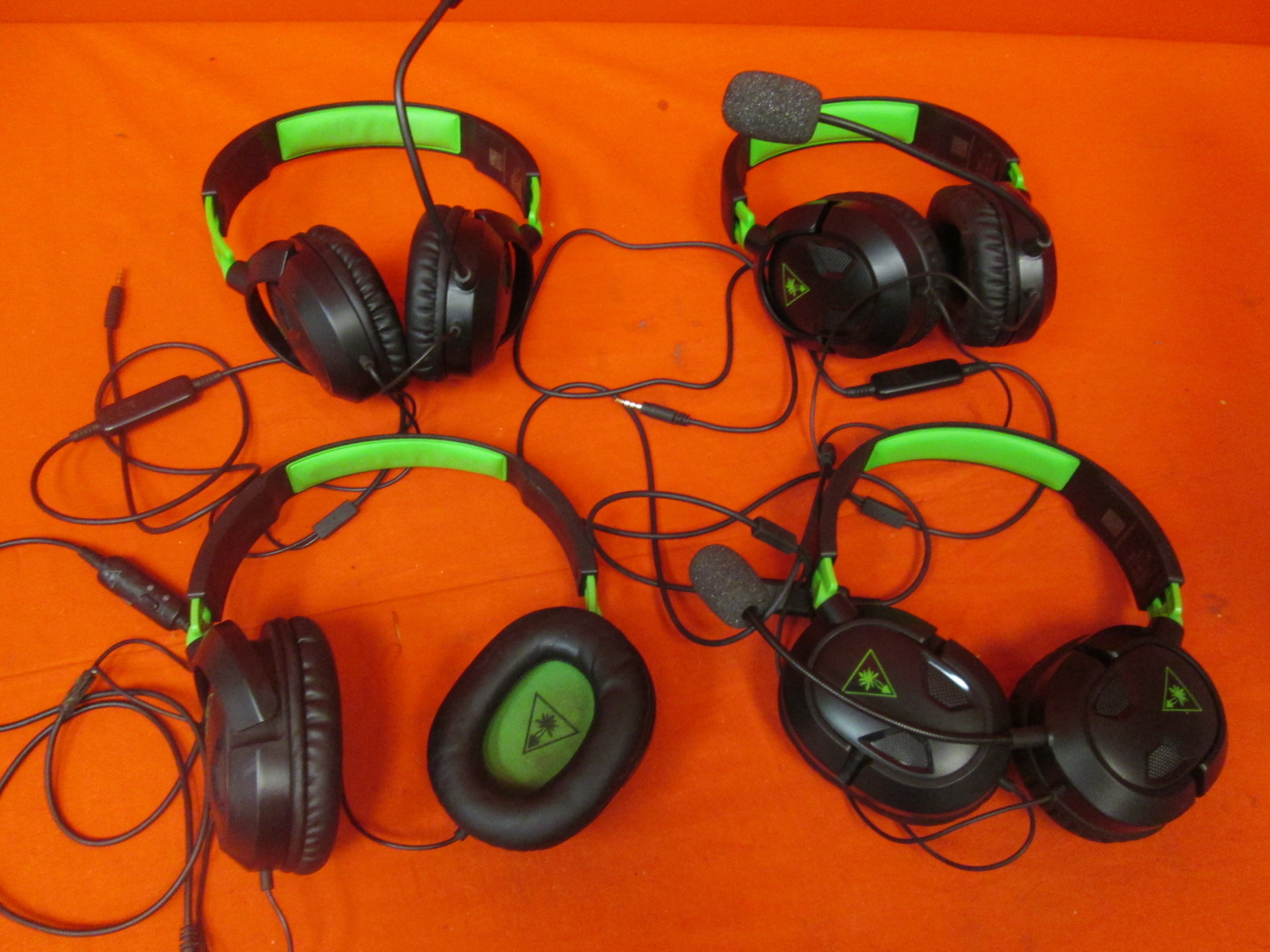 Broken Lot Of 4 Turtle Beach Ear Force Recon Gaming Headsets