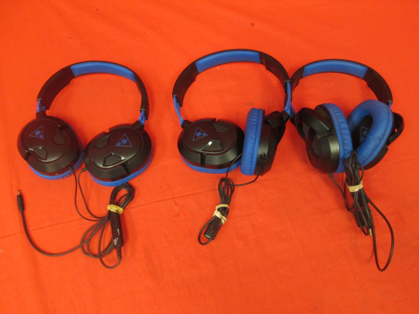 Broken Lot Of 3 Turtle Beach Ear Force Recon Gaming Headsets