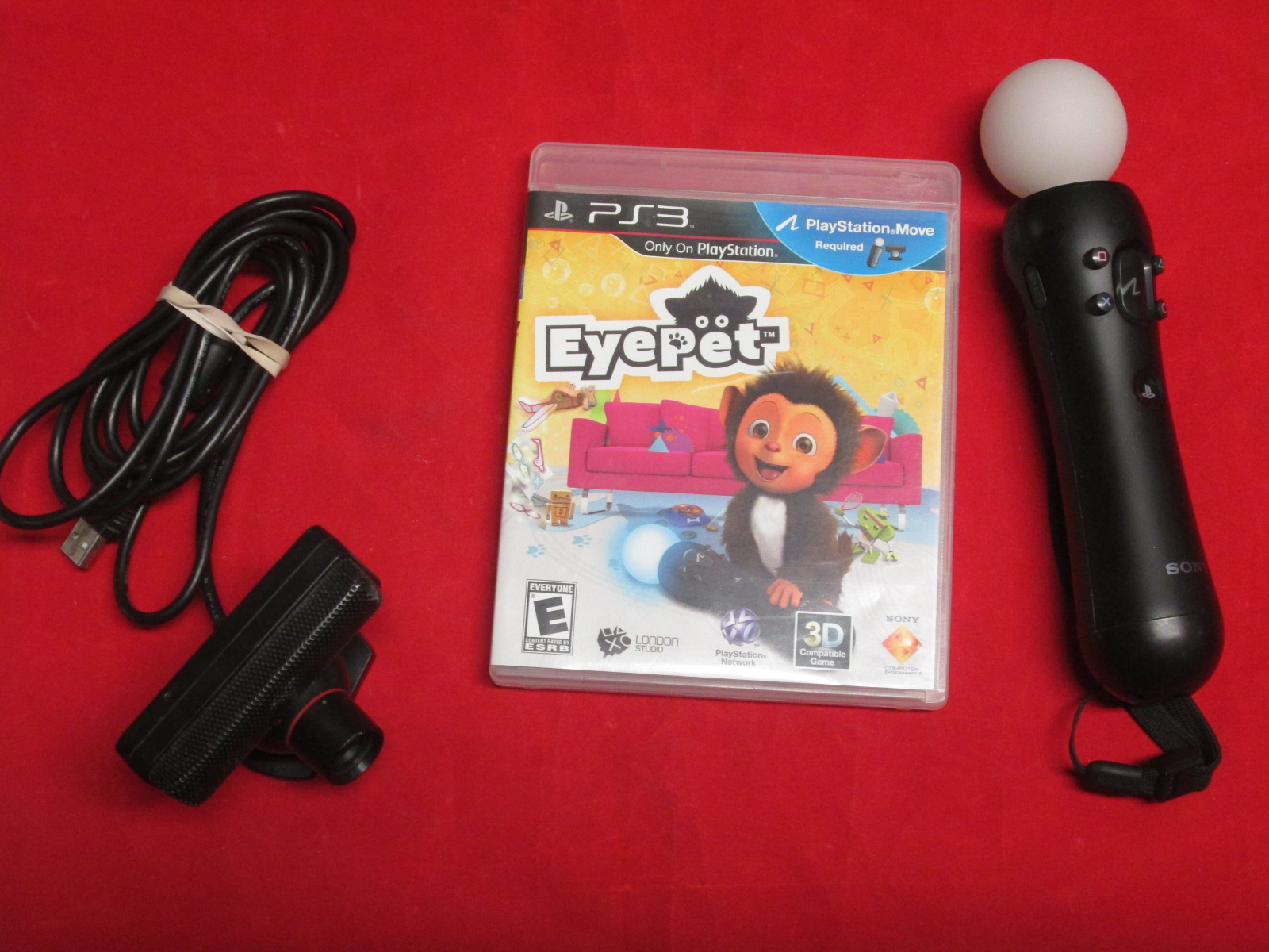 PlayStation 3 Eyepet Move Bundle With Eye Camera And Motion Controller
