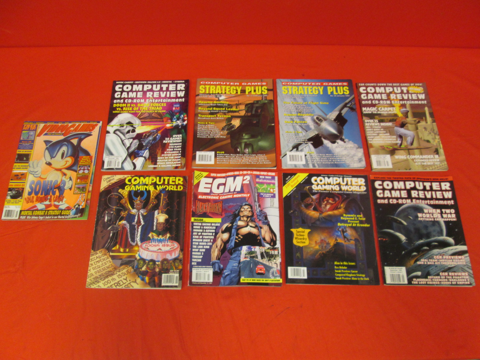 Lot Of 9 Vintage Video Game Magazines
