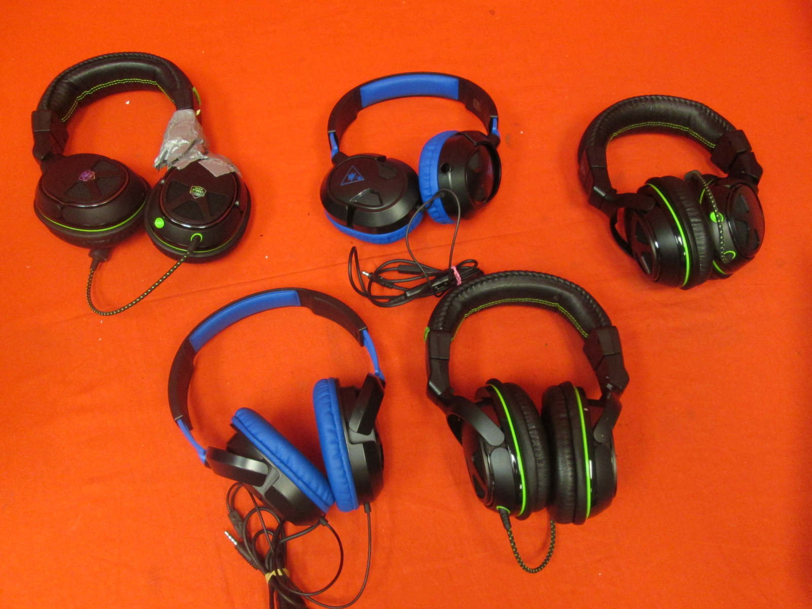 Broken Lot Of 5 Turtle Beach Gaming Headsets XO Seven Ear Force Recon