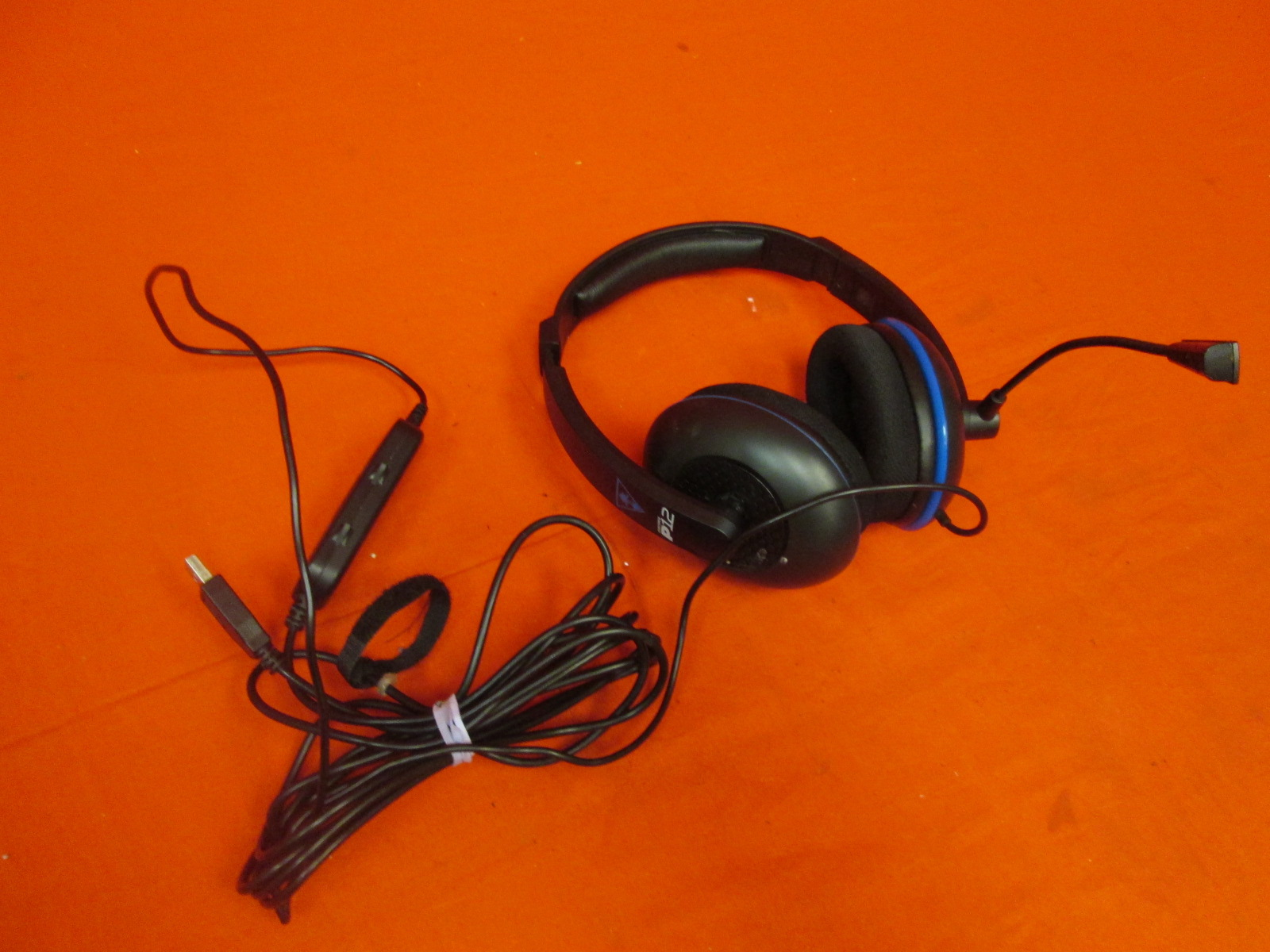 Broken Turtle Beach Ear Force P12 Amplified Stereo Gaming Headset