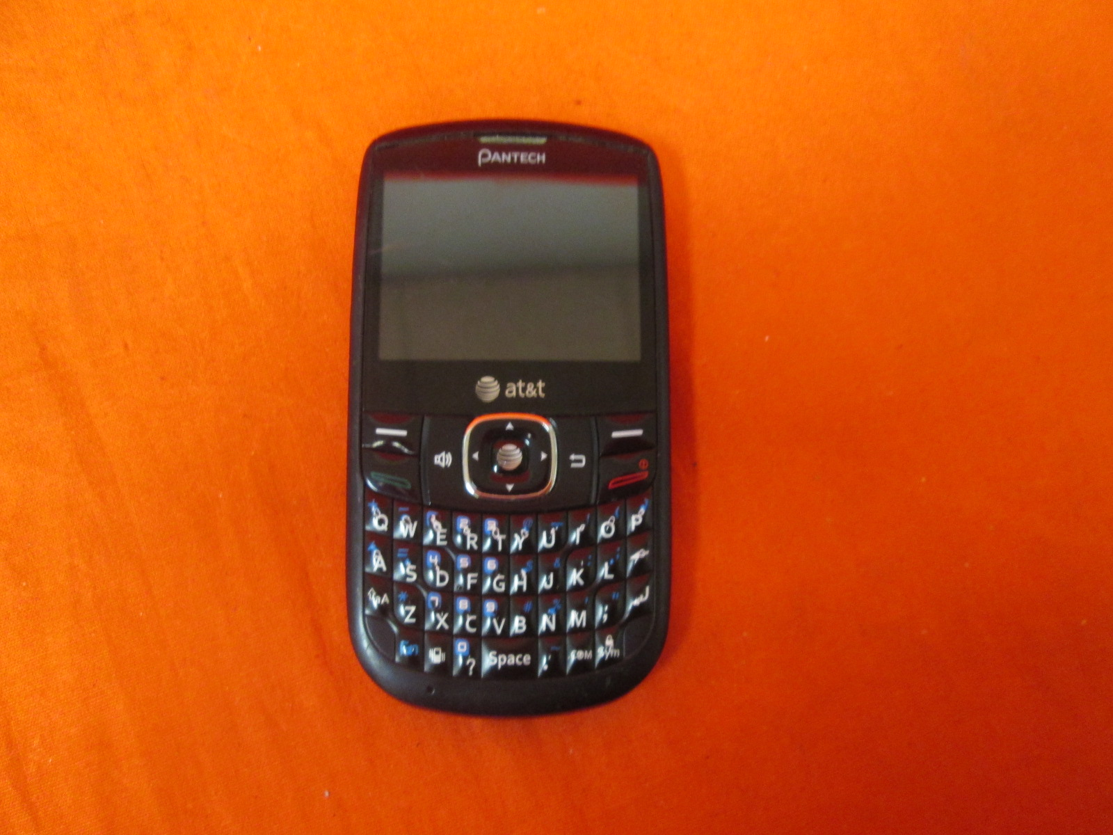 Broken Pantech Link II P5000 Qwerty Cell Phone AT&T Black