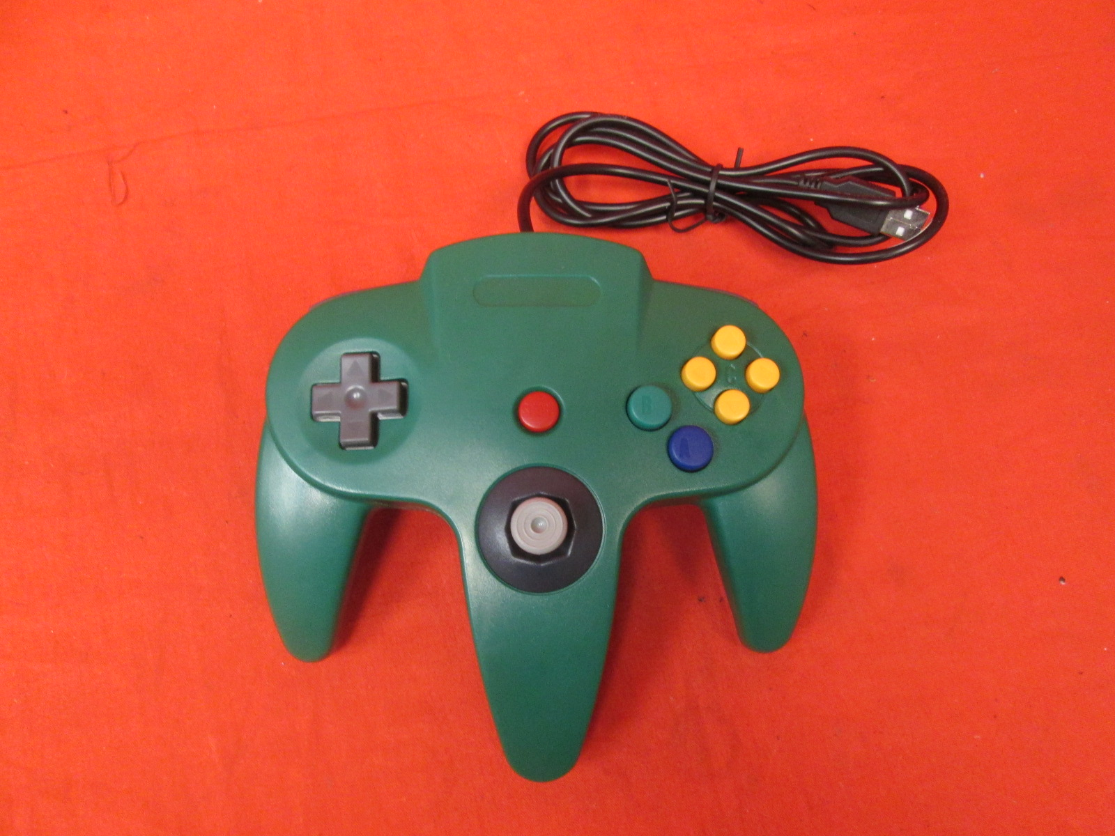 Generic Wired Game Controller For N64 Color Green