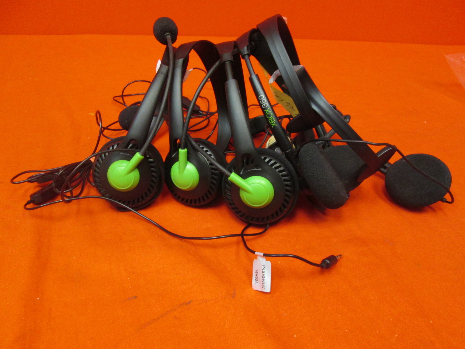 Broken Lot Of 6 Microsoft Xbox 360 Wired Headset And Xbox One Wired