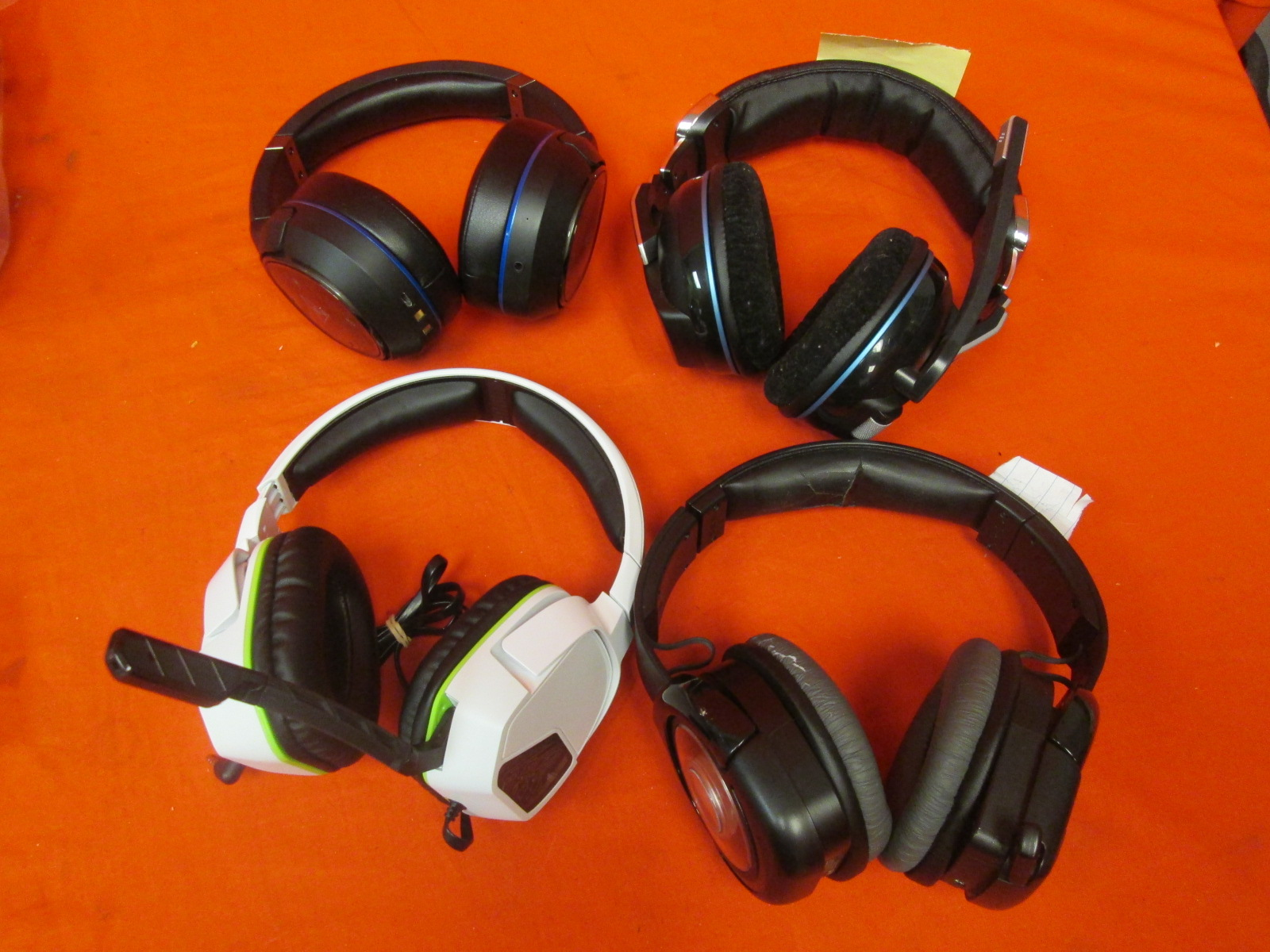 Broken Lot Of 4 Gaming Headsets Afterglow Turtle Beach Corsair