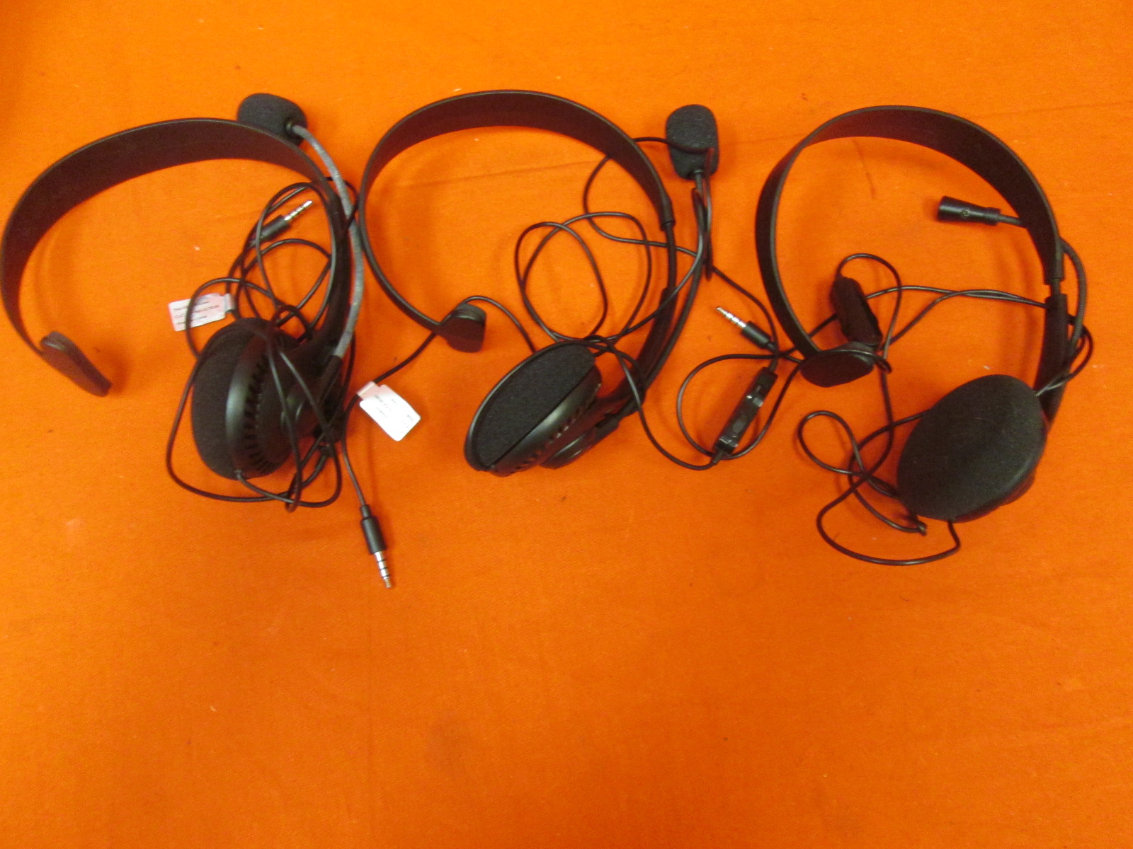 Broken Lot Of 3 Sony PlayStation 3 USB Chat Headsets