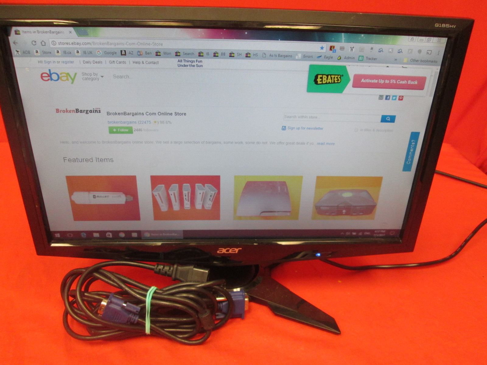Acer G185HVB 18.5 Inch LCD Monitor 16:9 5 Ms