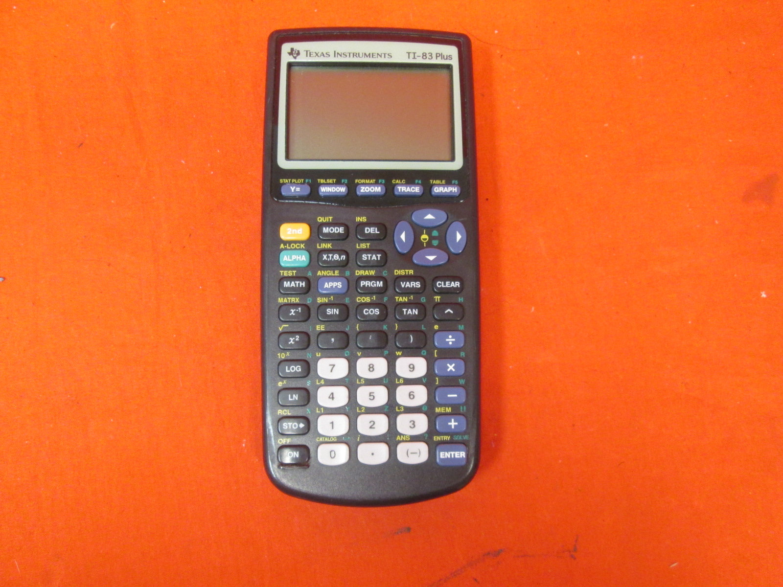 Broken Texas Instruments TI-83 Plus Programmable Graphing Calculator
