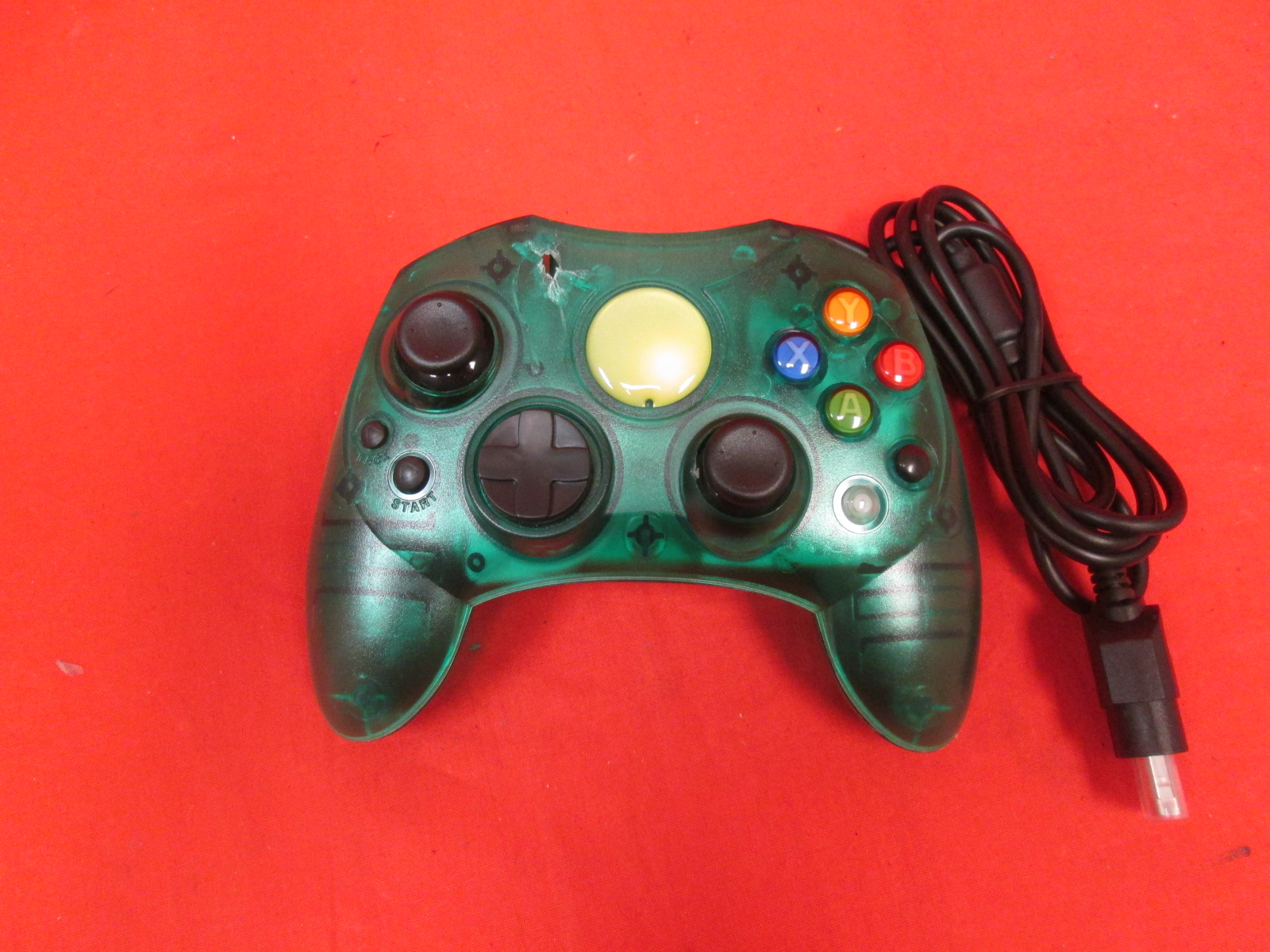 Xbox Controller S Wired Solid Clear Green For Xbox Original