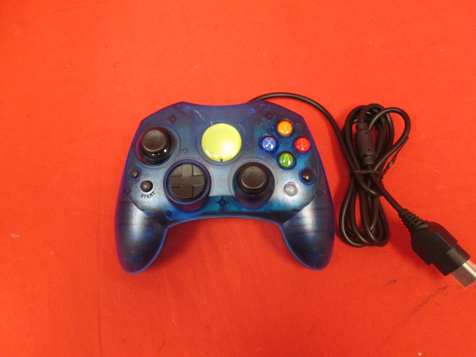 Xbox Controller S Wired Solid Clear Blue