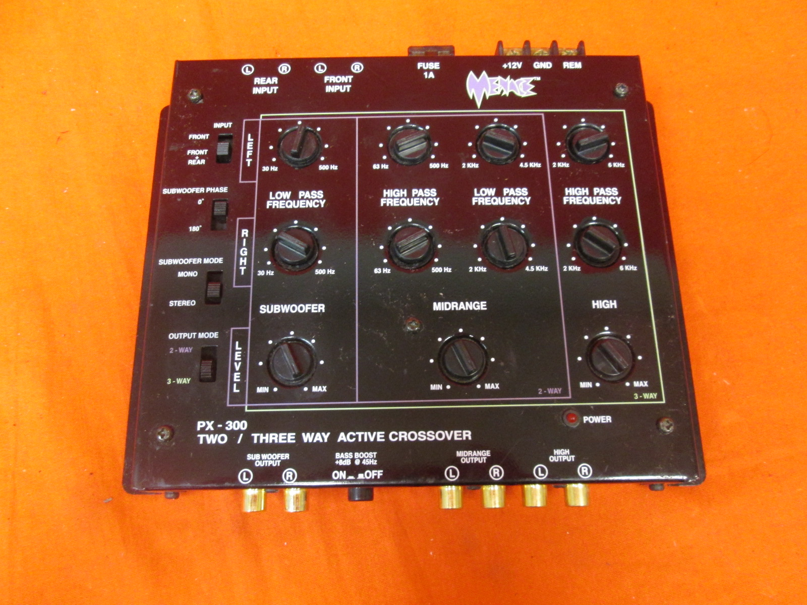 Menace PX-300 2/3 Way Active Stereo Crossover