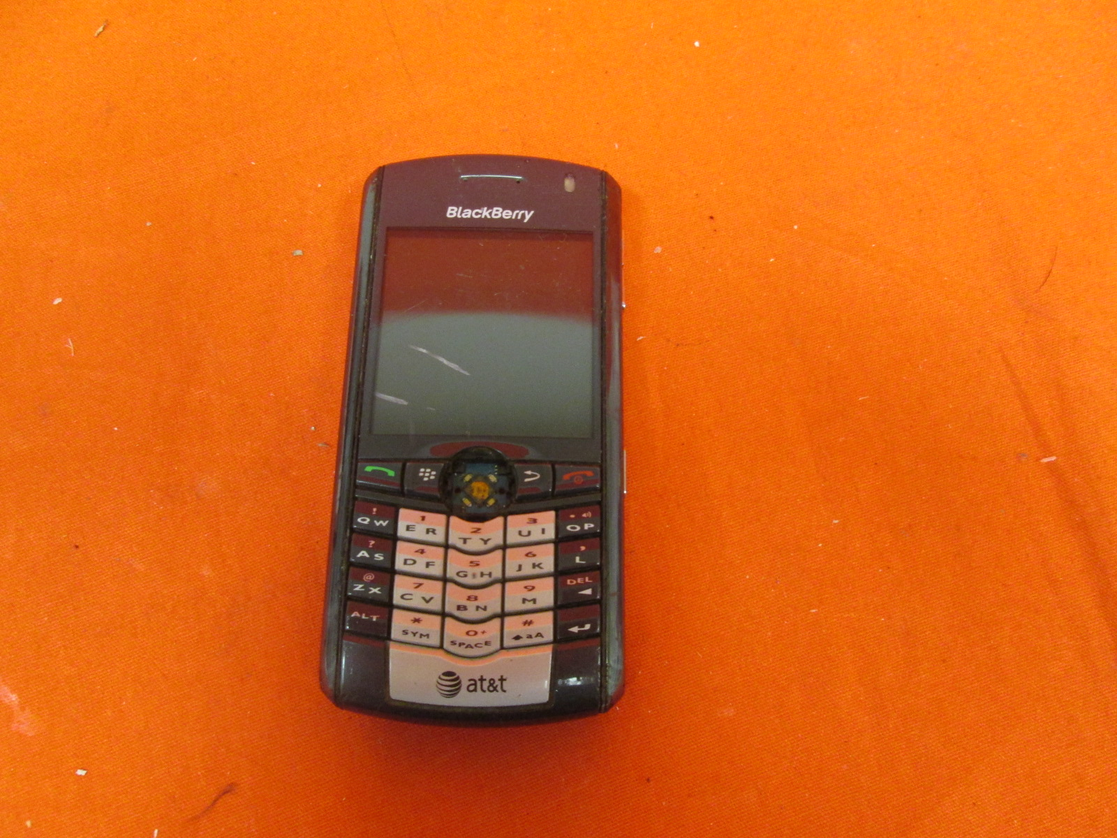Broken BlackBerry 9100 Pearl 3G Cingular Phone