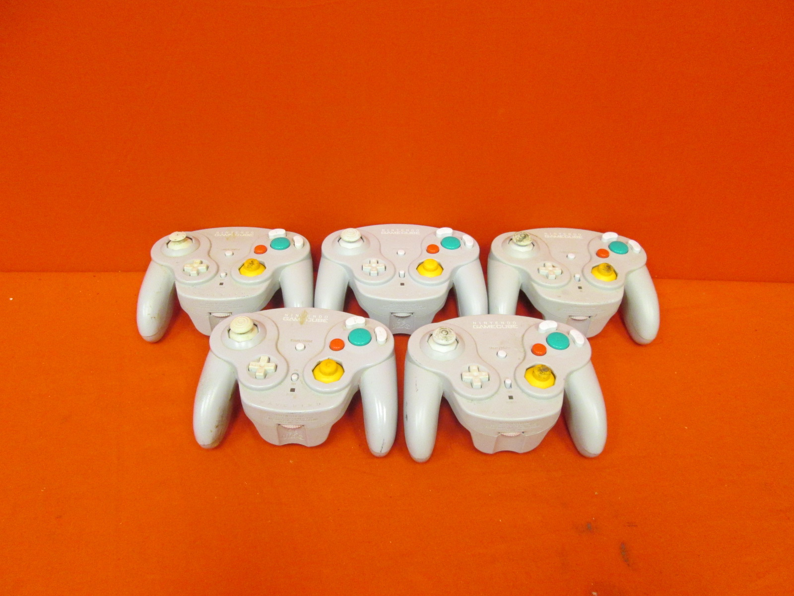 Broken Lot Of 5 GameCube Wavebird Wireless Controller Grey Silver