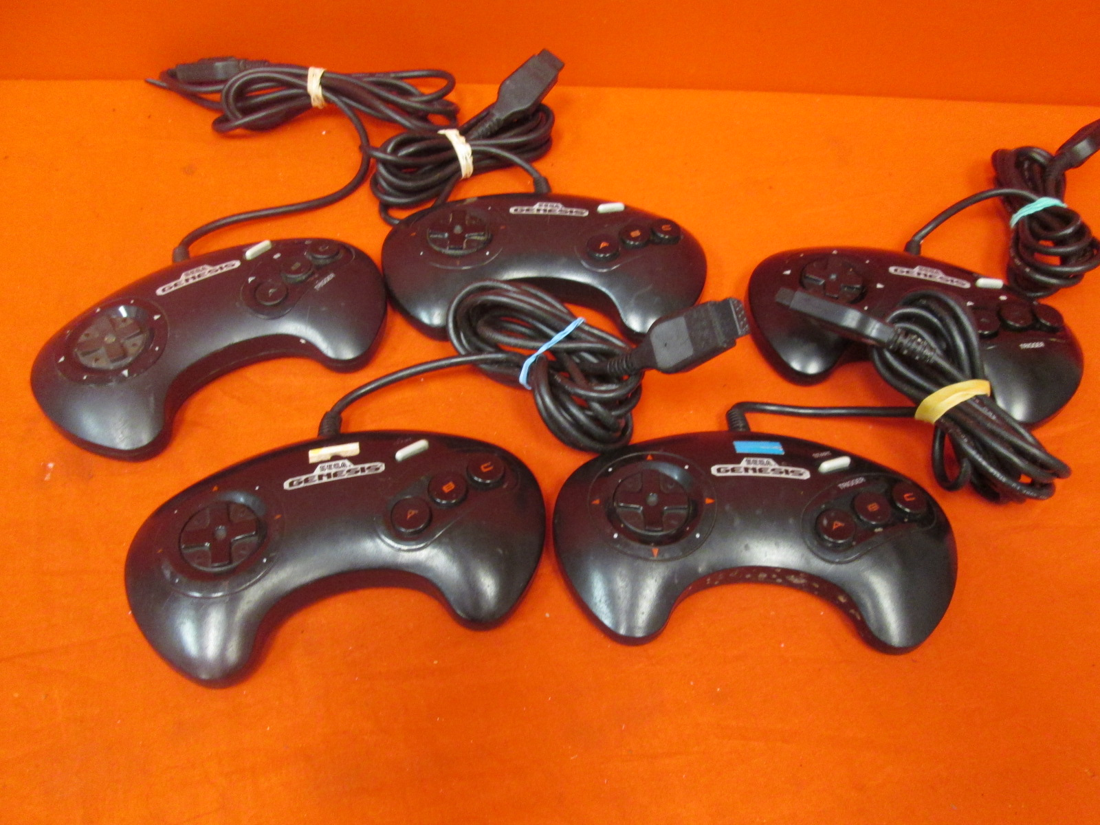 Lot Of 5 Game Controller Model #1650 For Sega Genesis Broken