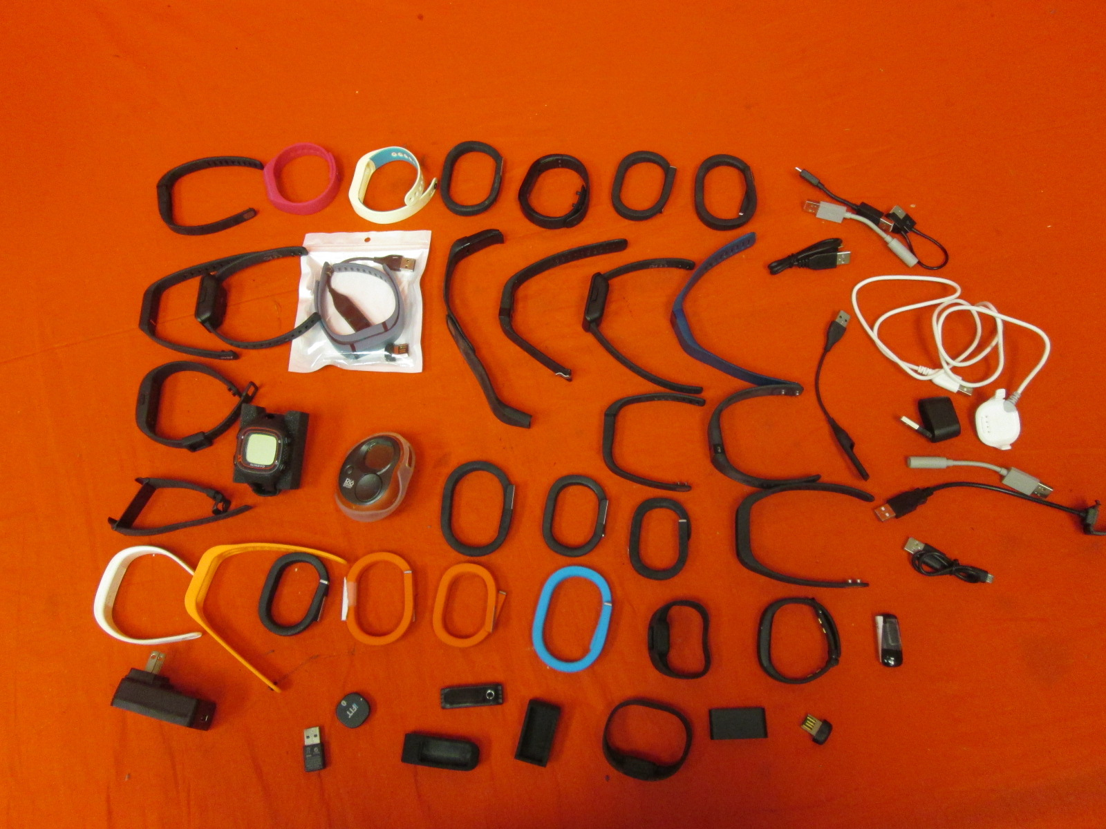 Broken Lot Of 37 Activity Trackers And Tracker Casings