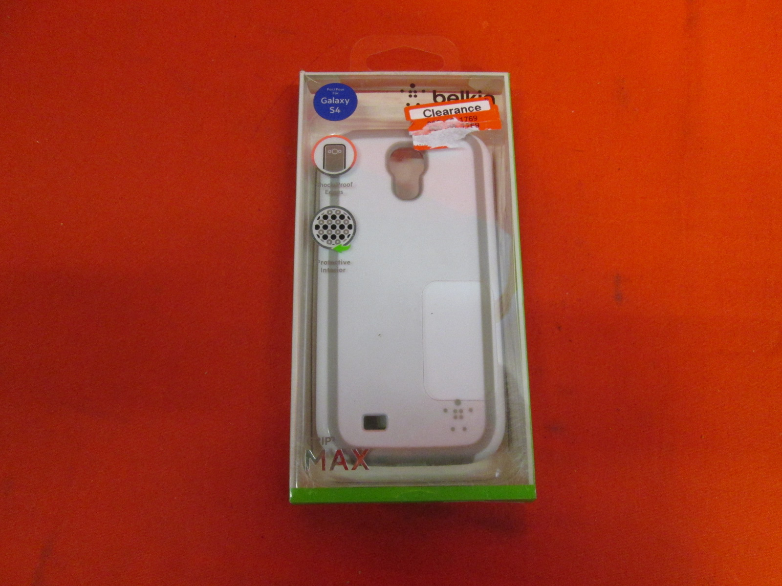 Belkin Grip Max Cell Phone Case For Samsung Galaxy S4 White
