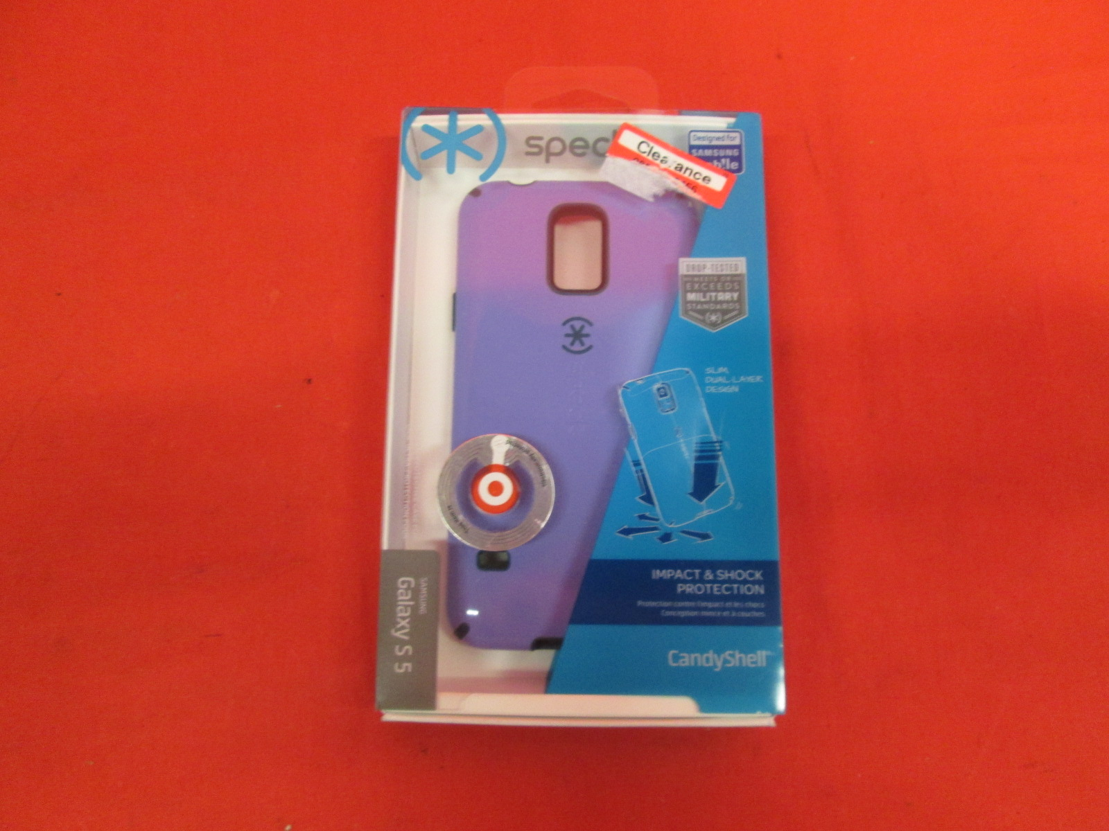 Speck CandyShell Case Cover Purple Fitted Galaxy S5