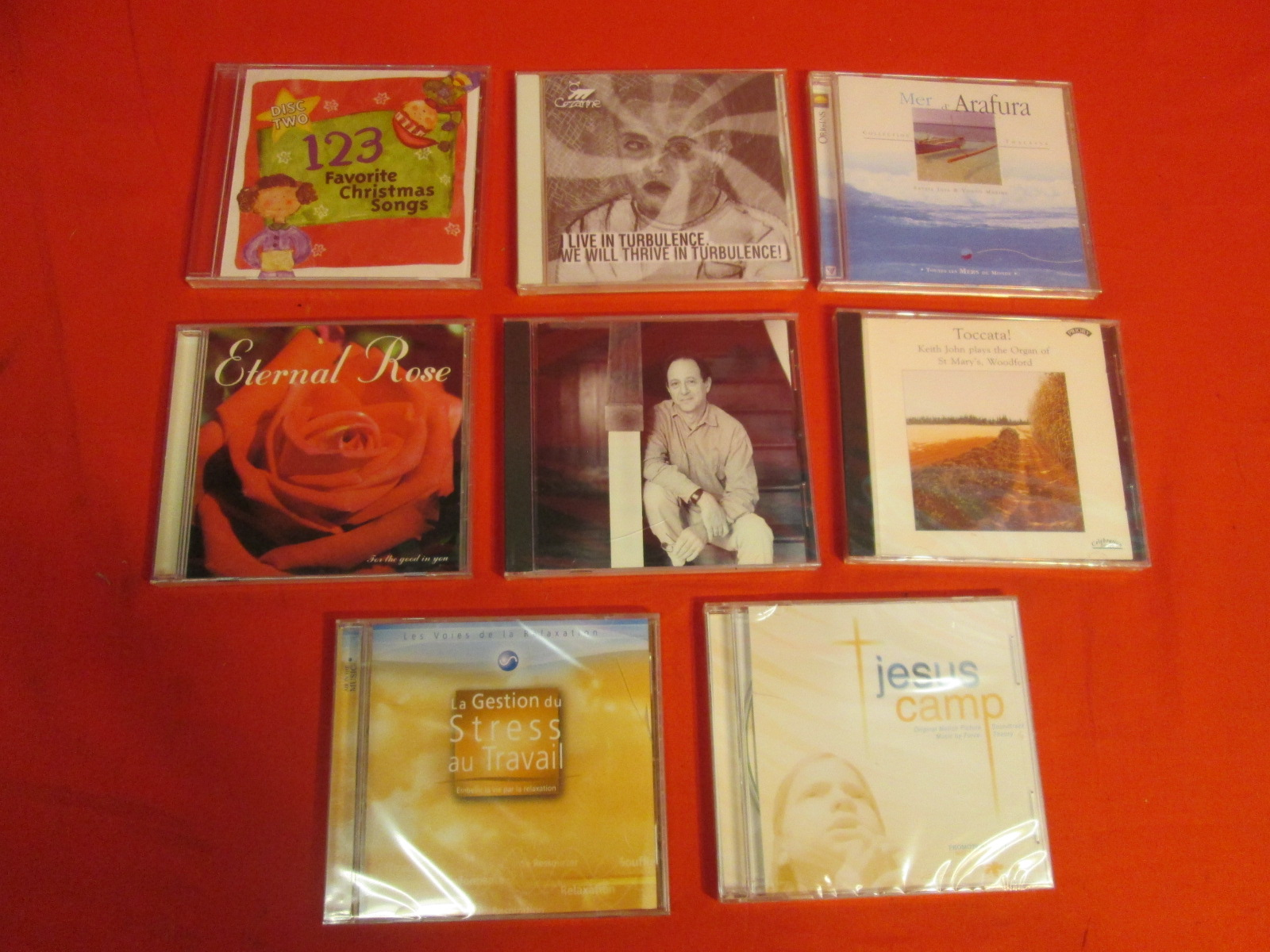 Lot Of 8 Various Title Religious Inspirational Holiday S On Audio CD