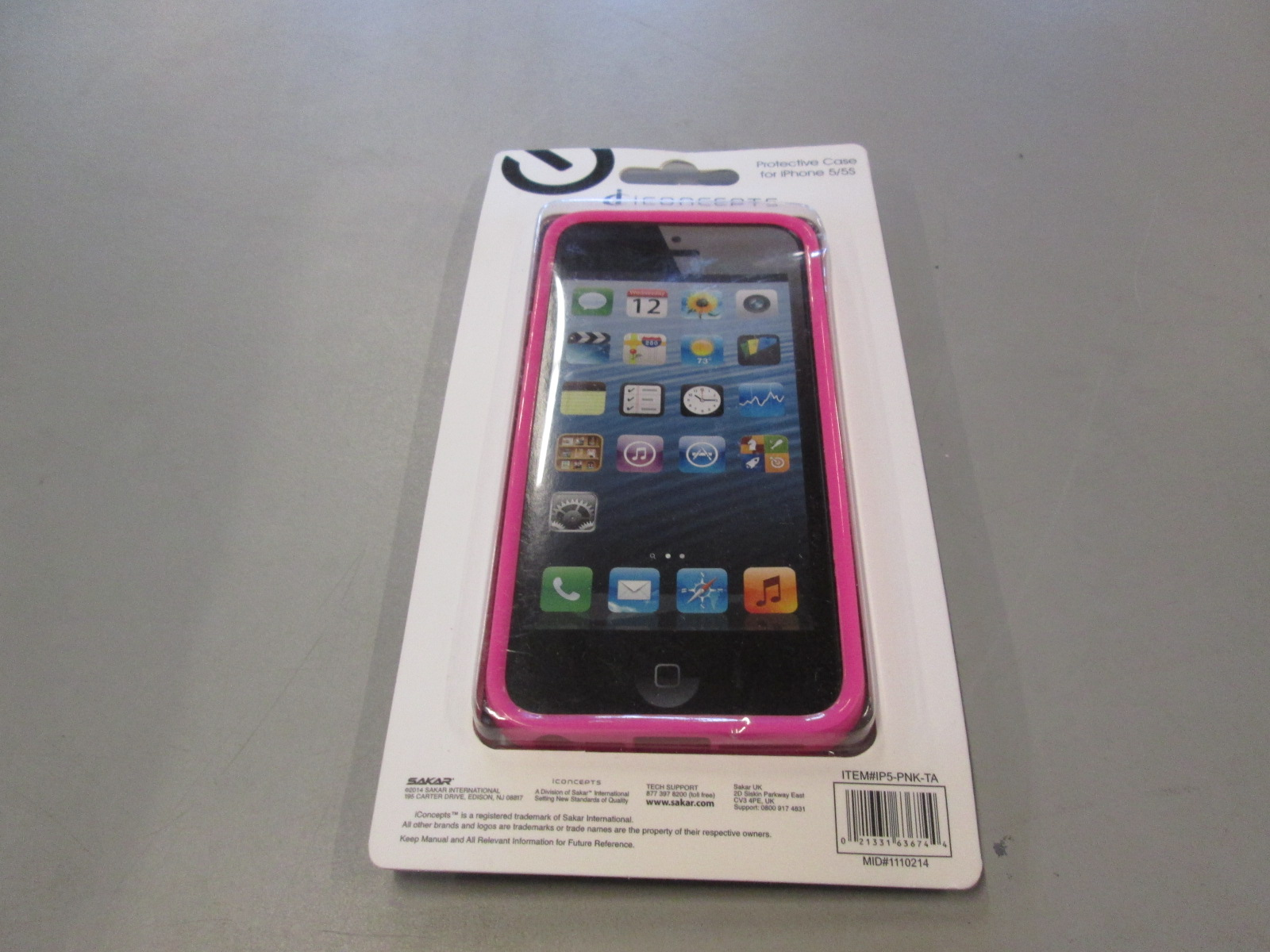 Image 1 of iConcepts Protective Case For iPhone 5 5S SE Pink Cover Fitted