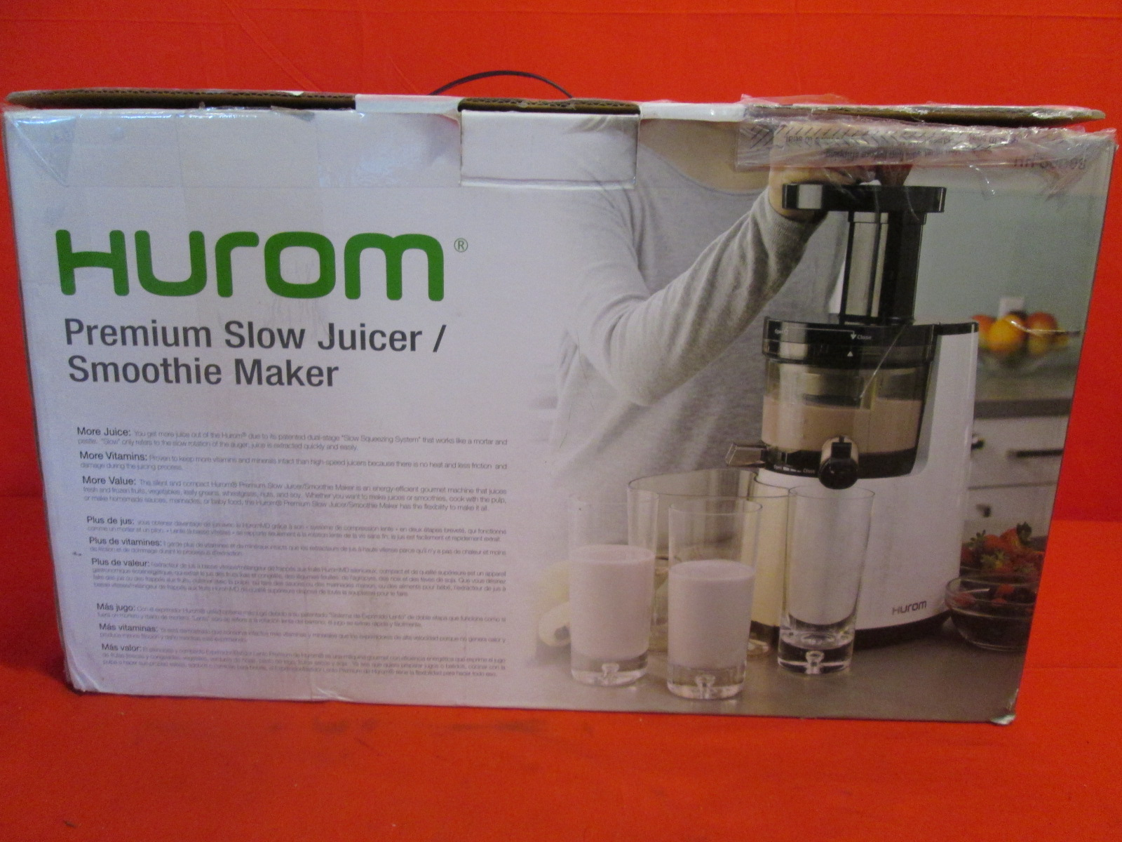 Hurom Premium Slow Juicer Hh Wbb07 : Hurom Premium Masticating Slow Juicer & Smoothie Maker HH-WBB07