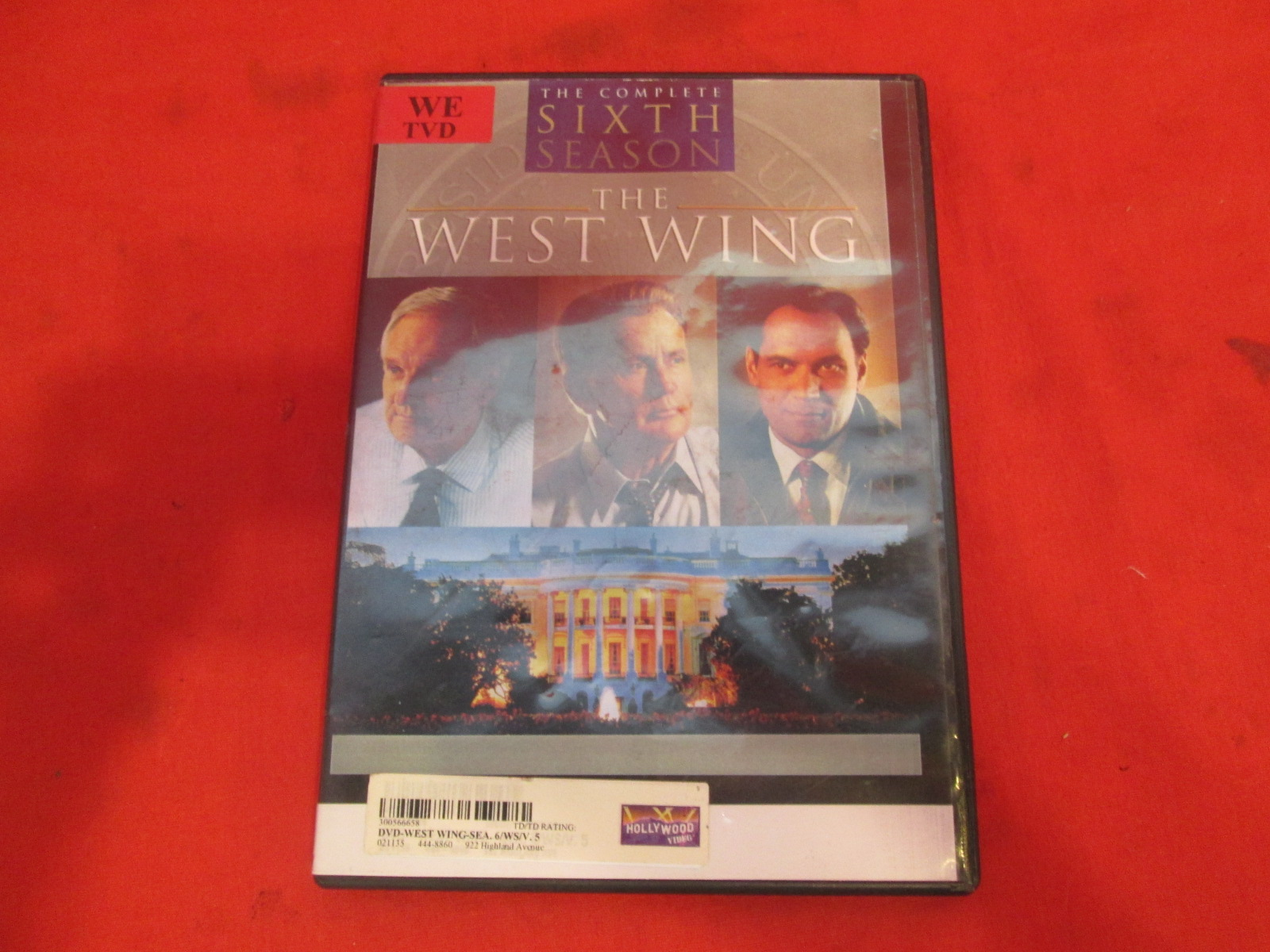 the west wing season 6 disc 5 on dvd with martin sheen. Black Bedroom Furniture Sets. Home Design Ideas