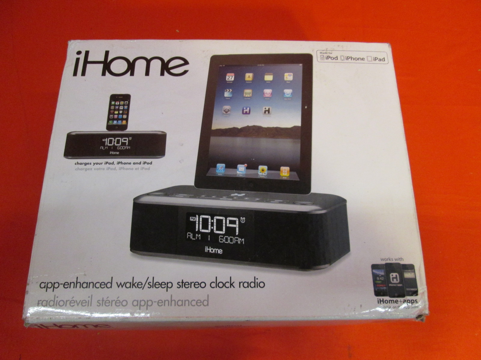 broken ihome id95bzc app enhanced dual alarm stereo clock radio for. Black Bedroom Furniture Sets. Home Design Ideas