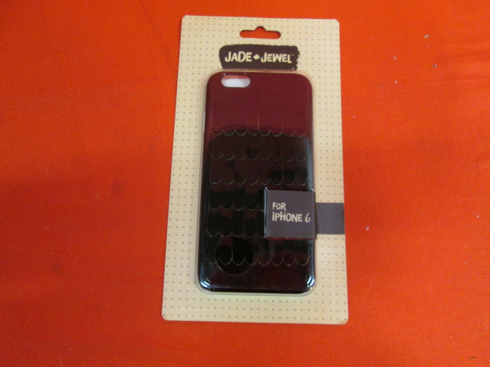Jade And Jewel Cell Phone Case For iPhone 6 Black Faux Leather