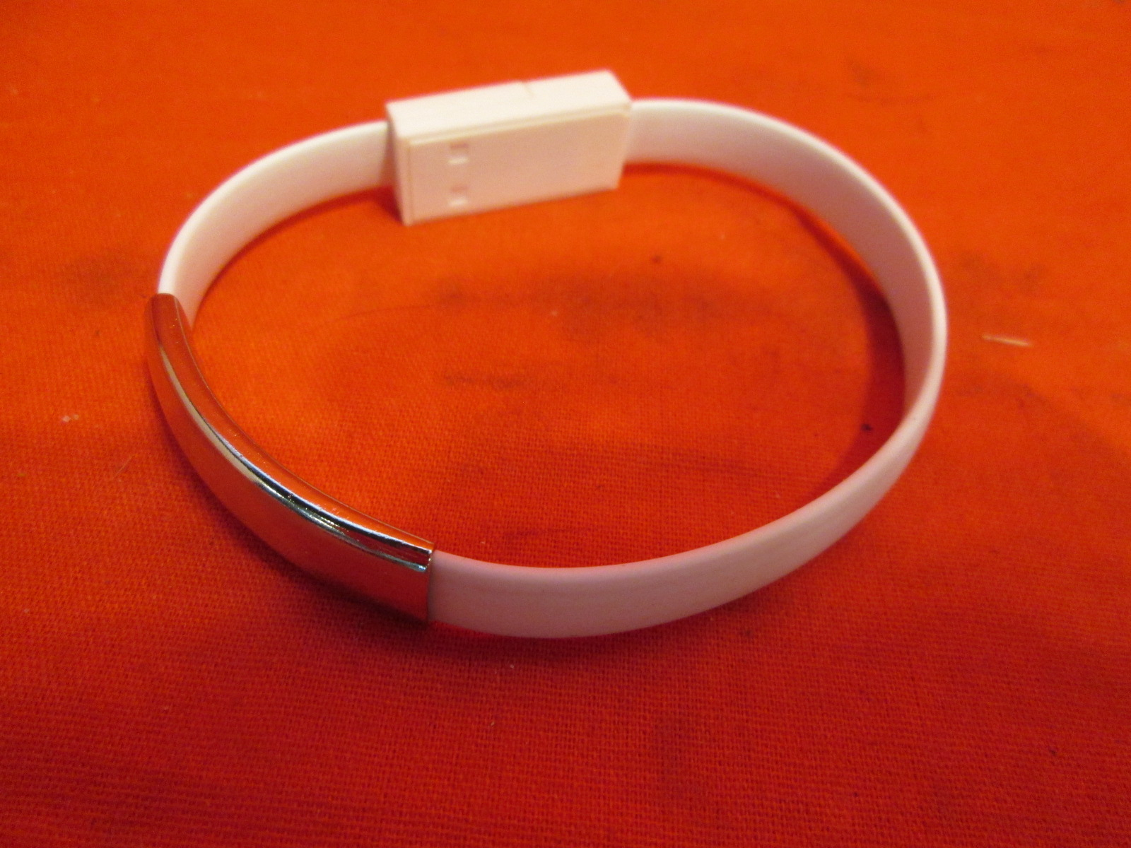 Lightning Cable Bracelet For iPhones White By Mars Devices