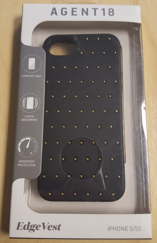 AGENT18 iPhone 5 5S SE Edgevest Black With Gold Studs Case Cover Fitted