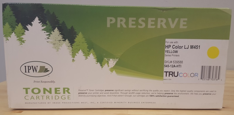 Pw Preserve HP Laserjet Toner Cartridge Yellow 545-12A-HTI For LJM451