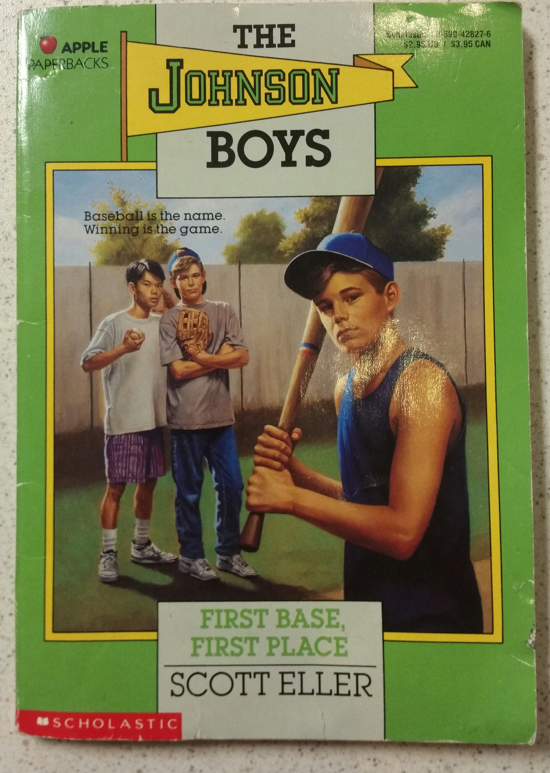 First Base First Place Johnson Boys By Eller Scott Book Paperback