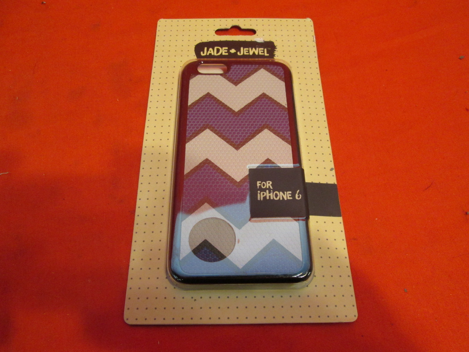Jade Jewel Chevron Snakeskin Cell Phone Case For iPhone 6 Blue/gray