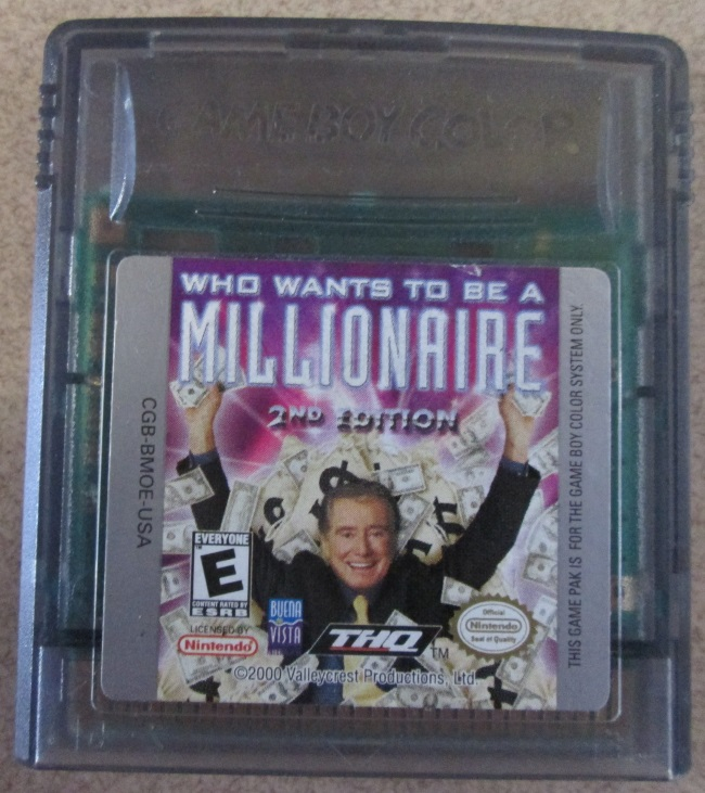 Who Wants To Be A Millionaire Gameboy