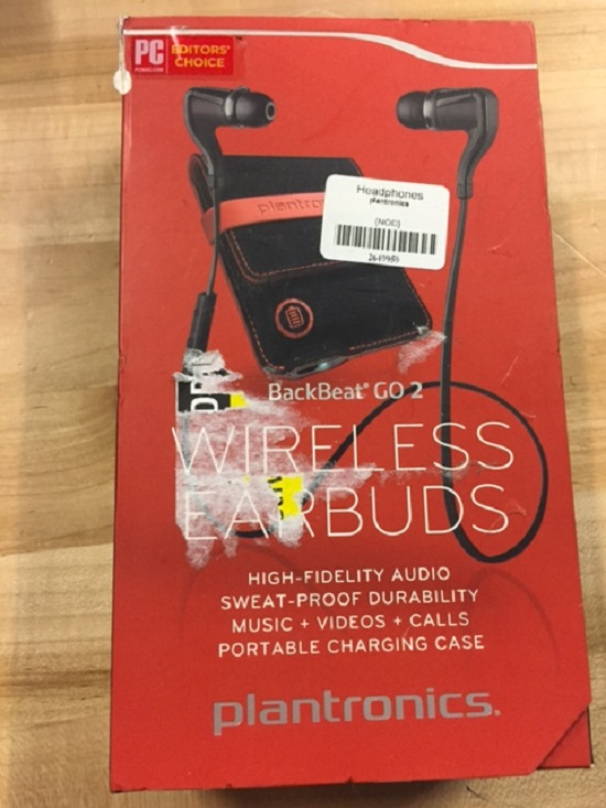 BackBeat Go 2 Bluetooth Earbud Headphones With Charging Case Earbuds: Black Case