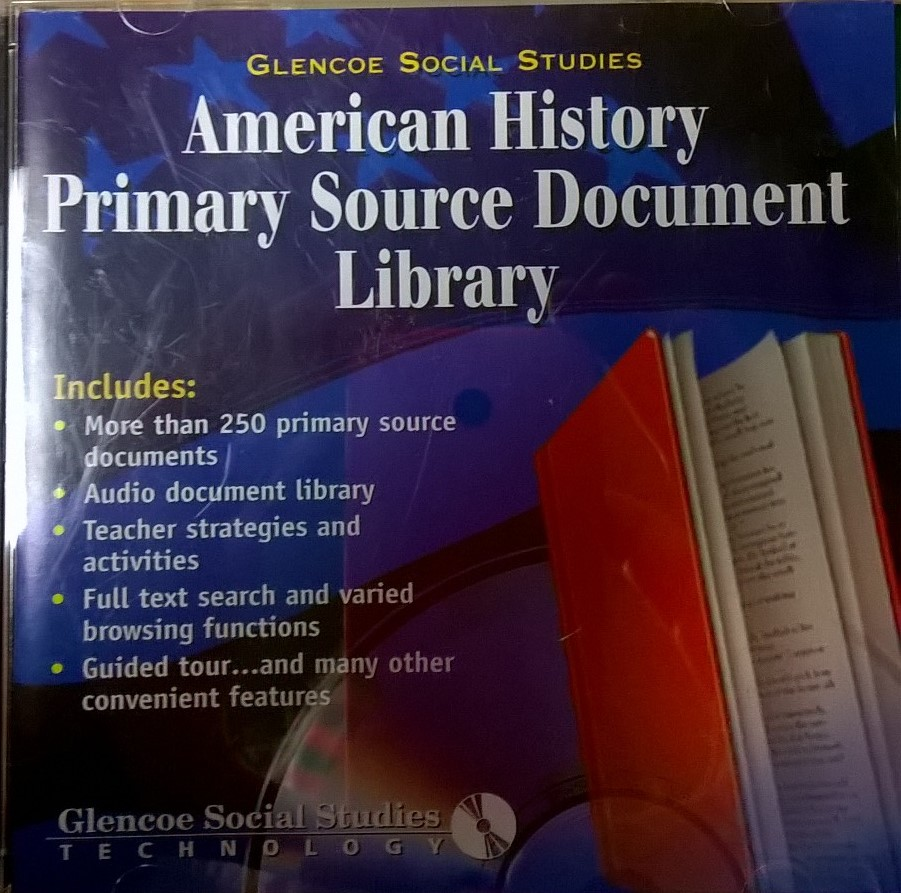 American History Primary Source Document Library Software