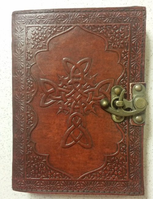 Fantasy Gifts Embossed Celtic Cross Faux Leather Handmade Paper