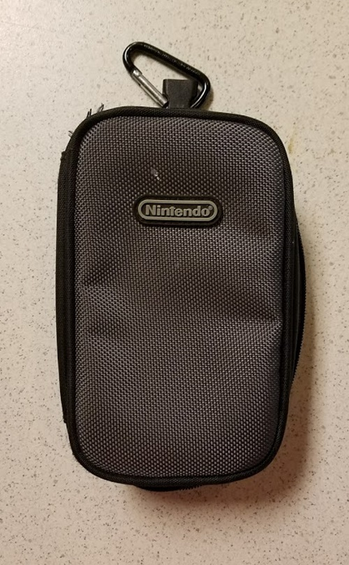 ALS Industries Nylon Zippered Travel Carry Case On Gameboy Gray Boy Advance