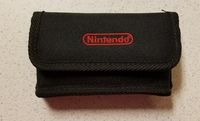 Nintendo Nylon Pouch Black Game Boy On Gameboy