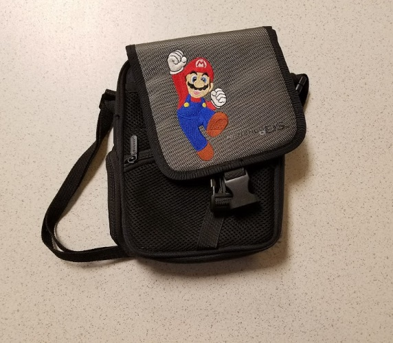 ALS Industries Mario Jumping Nylon Carry Bag With Strap For DS Multi-Color Carry