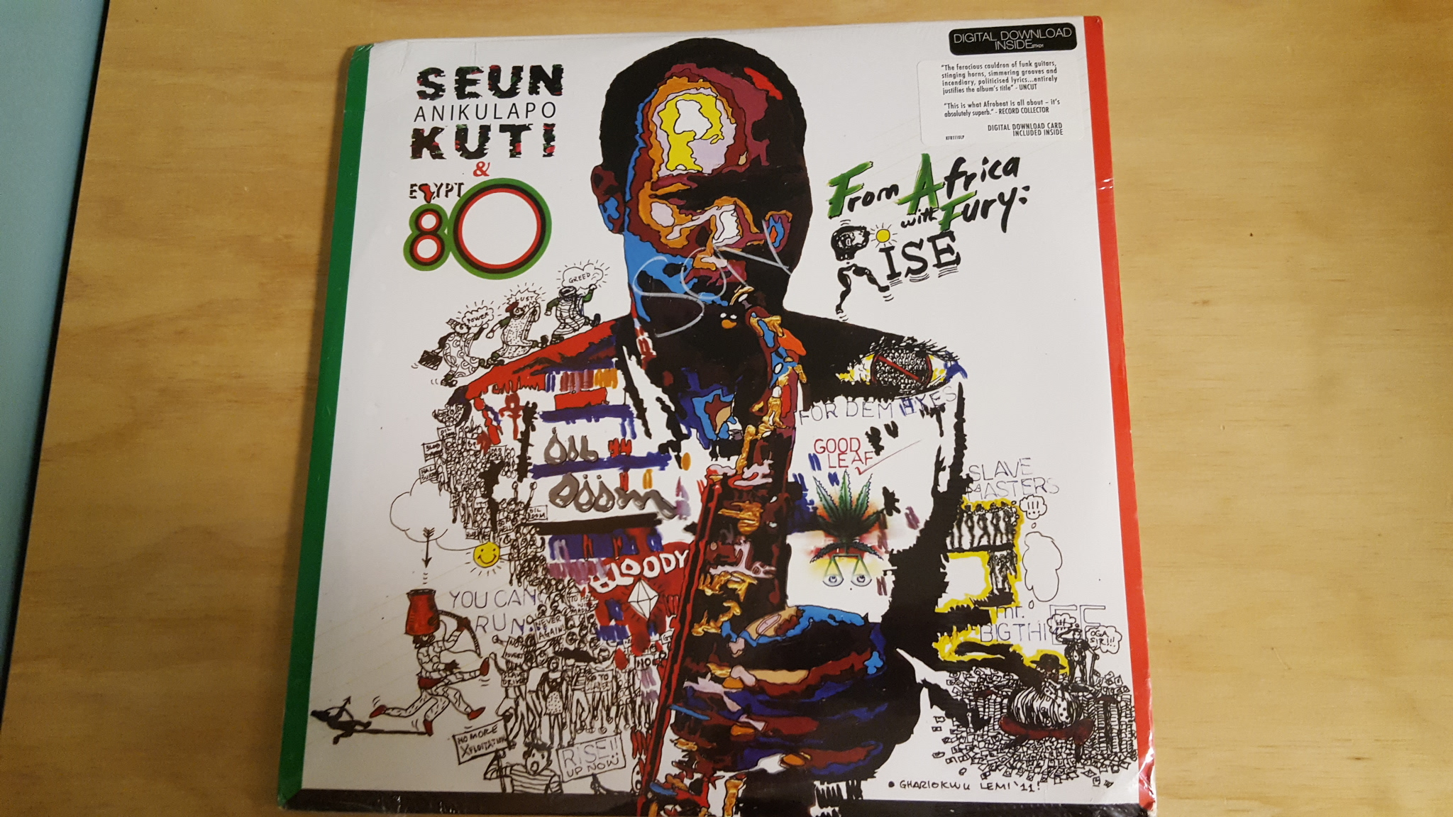 From Africa With Fury By Seun Kuti On Vinyl Record Lp