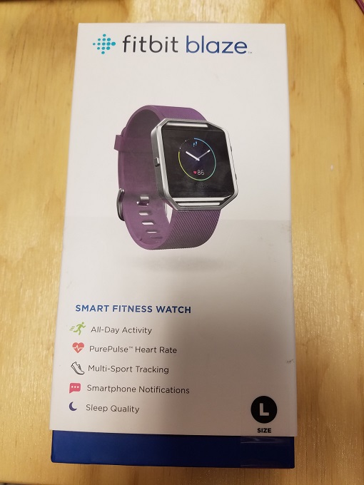 Fitbit Blaze Smart Fitness Watch Plum Silver Large US Version Toy